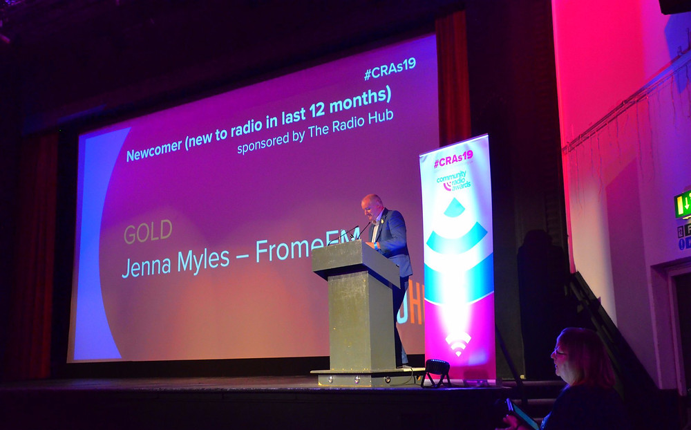 Somerset cool, national community radio awards, Jenna Myles best newcomer, Frome FM, Somerset blogger, Somerset broadcaster
