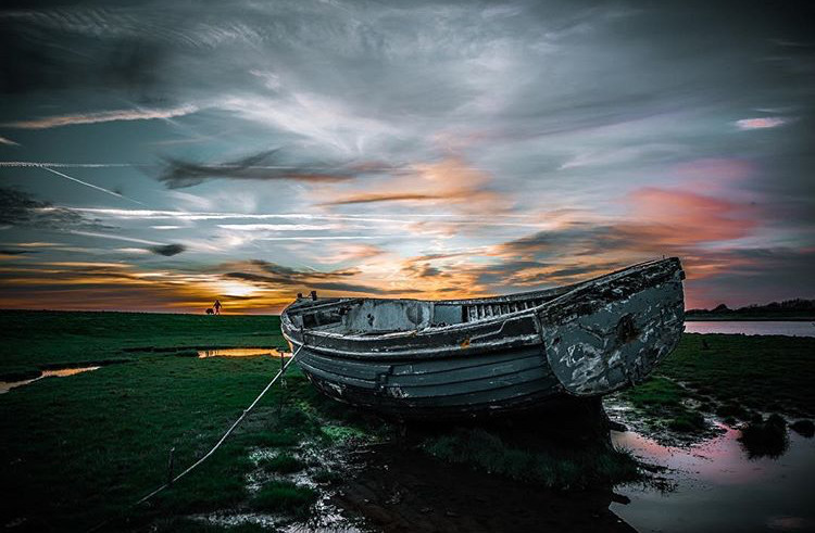 Boat on the Brue by Rich Williams, Picture Somerset, Picture Somerset photo exhibition, Somerset cool, Somerset blog, Somerset photography