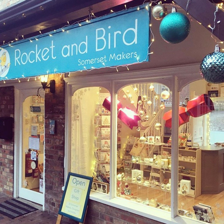 Rocket and bird, Somerset cool, Christmas shopping in Somerset, Somerset blogger
