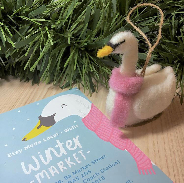 The Happy Felt Club, Etsy made local, Somerset cool, Somerset blog, Somerset blogger, Christmas markets in Somerset, Christmas pop ups in Somerset
