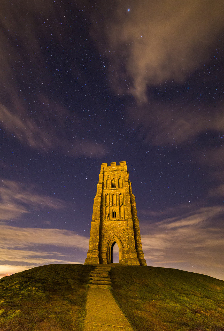 Starry Sky over Glastonbury Tor by Martin Waters, Glastonbury Tor, Picture Somerset, Somerset photo exhibition, Somerset cool, Somerset blog