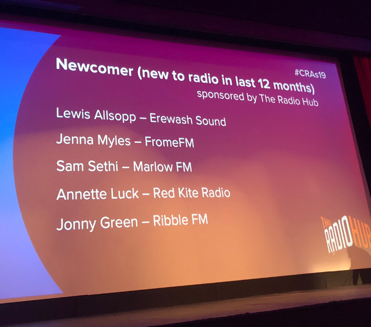 Somerset cool, Jenna Myles, National community radio awards, best newcomer, Frome fm, Somerset blogger, Somerset broadcaster on community radio