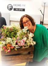 Flower crown making in the studio