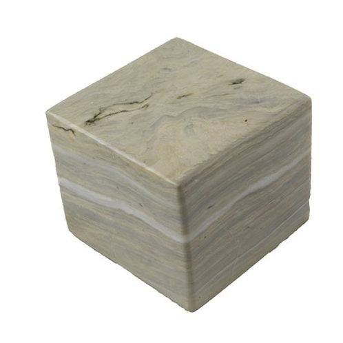 Cube en marbre blanc