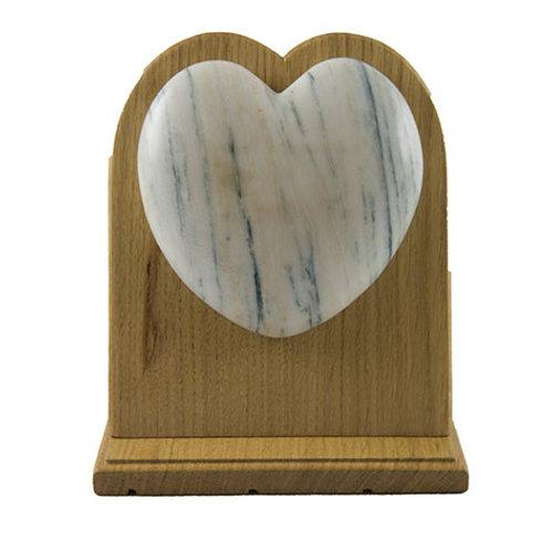 Coeur en marbre et bois