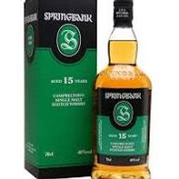 Whisky Springbank 15 ans 46° 70cl
