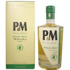 Whisky P et M toourbé 42° 70cl