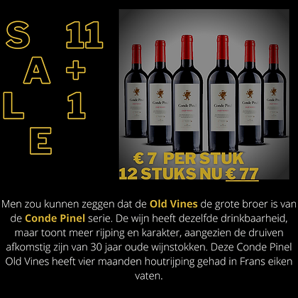 12 STUKS Conde Pinel - old Vines