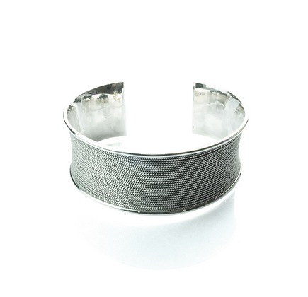 Sterling Silver Bangle - Thai Northern Style