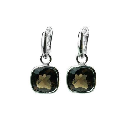 Sterling Silver Smoky Quartz Earrings - Detachable