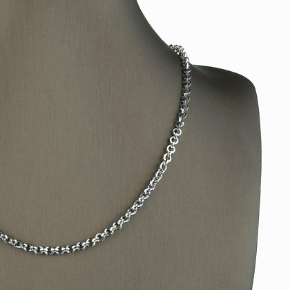 Sterling Silver Round Link Necklace