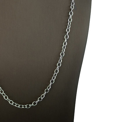 Sterling Silver Oval Link Necklace