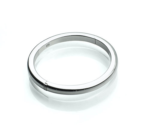 Sterling Silver Baby Bangle with Open Hinge