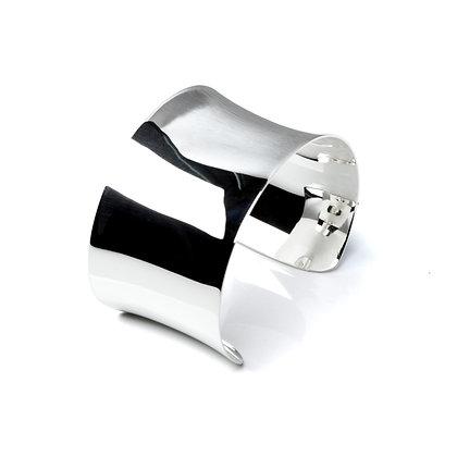 Sterling Silver Cuff Bangle - Small