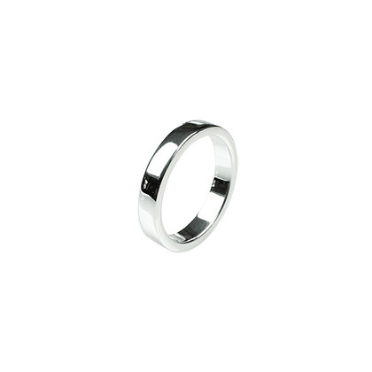 Sterling Silver Thick Band Ring - 4 MM Flat