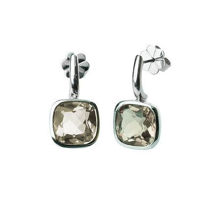 Sterling Silver Smoky Quartz Earrings - Light Color