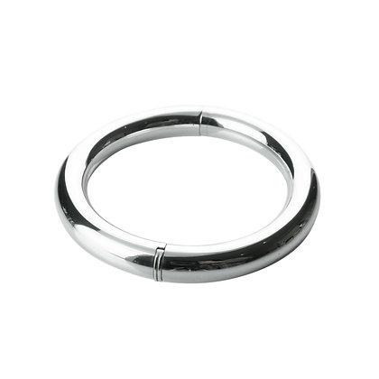 Sterling Silver Tube Bangle - Medium