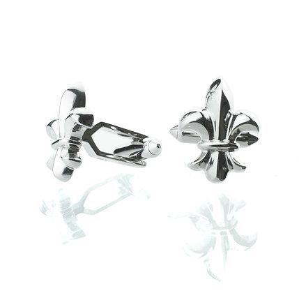 Sterling Silver Fleur-de-lis Cufflinks
