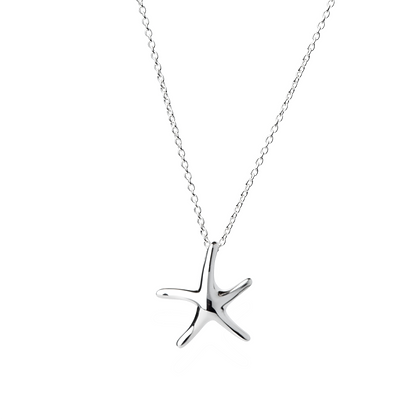 Sterling Silver Starfish Pendant - Small