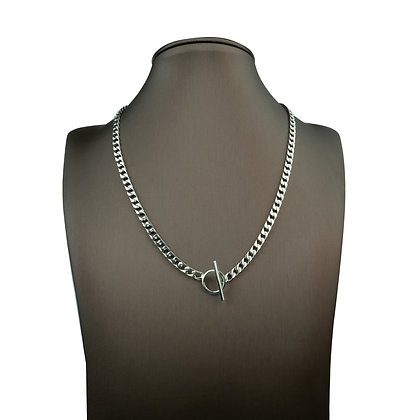 Sterling Silver Toggle Curb Necklace