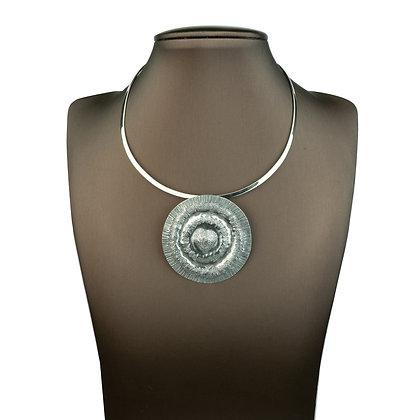 Sterling Silver Handmade Tribal Pendant