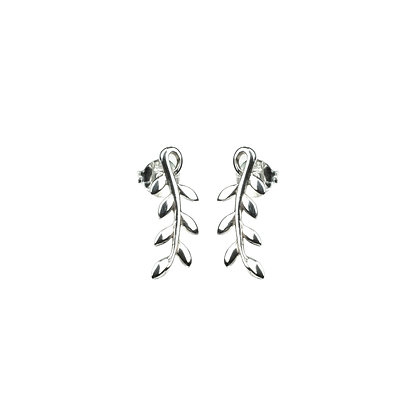 Sterling Silver Leaf Earrings and Climber