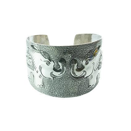 Sterling Silver Elephant Bangle