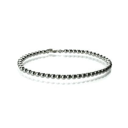 Sterling Silver Bead Bracelet - 4 mm