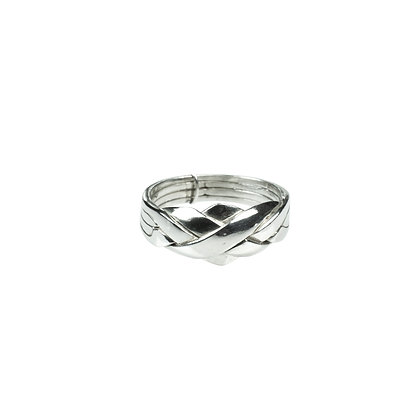 Sterling Silver 4-Band Puzzle Ring
