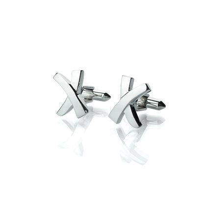 Sterling Silver Cross Cufflinks