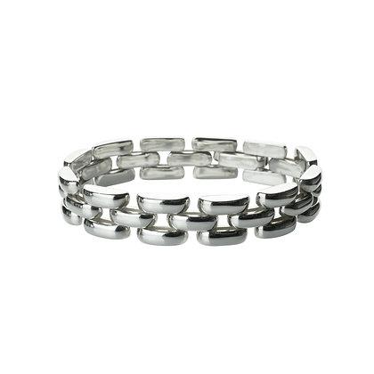 Sterling Silver Band Link Bracelet