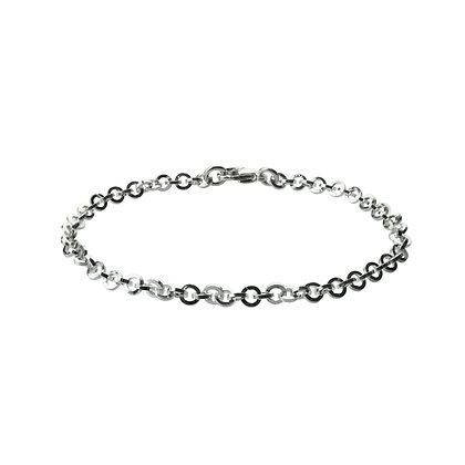 Sterling Silver Round Link Bracelet