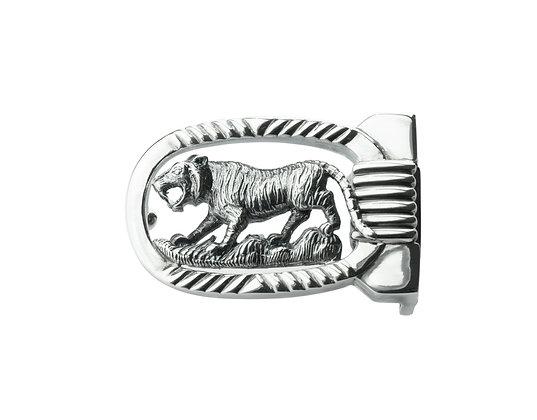 Sterling Silver Tiger Belt Buckle