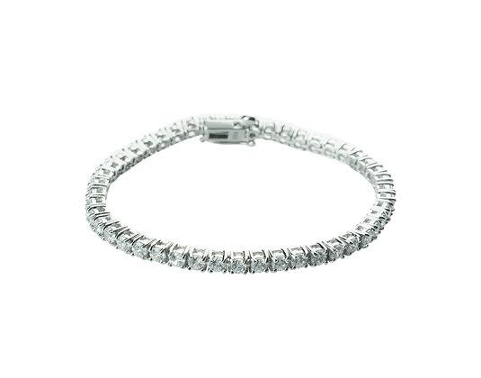Sterling Silver Diamond Simulant Tennis Bracelet