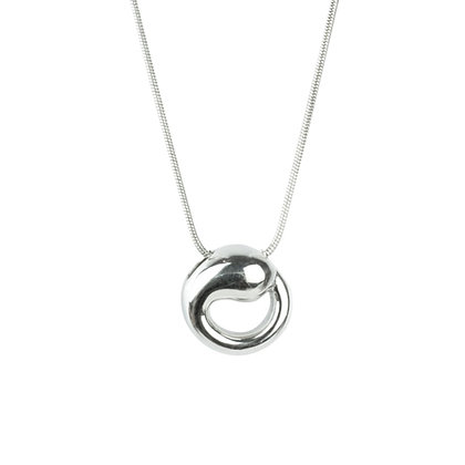 Sterling Silver Eternal Circle Pendant - Large