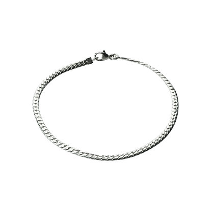 Sterling Silver Thin Men's Bracelet