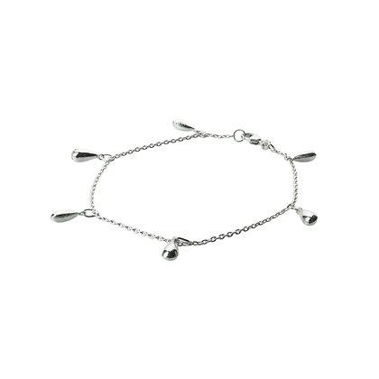 Sterling Silver Teardrop Charm Bracelet