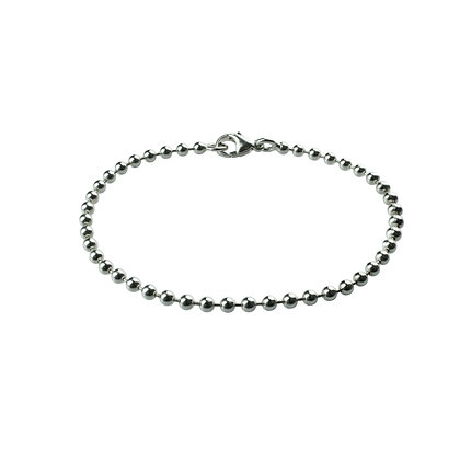 Sterling Silver Ball Bracelet - 3 mm