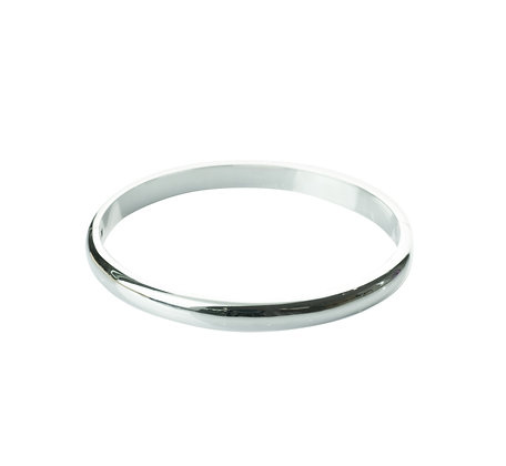 Sterling Silver Hinge Bangle - 6 mm Round