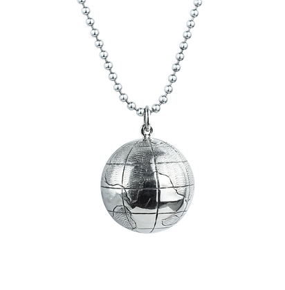 Sterling Silver Chime Globe Pendant - Large