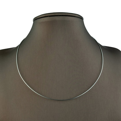 Sterling Silver Stiff Flexing Cable Wire Necklace