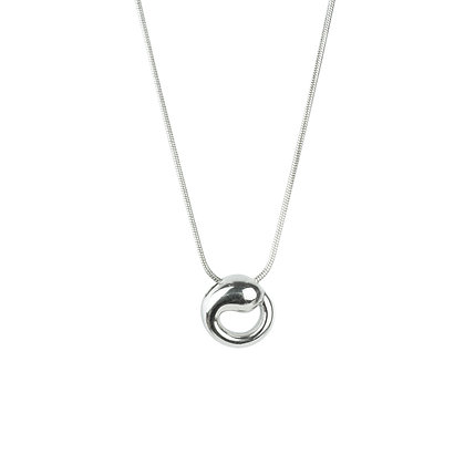 Sterling Silver Eternal Circle Pendant - Small