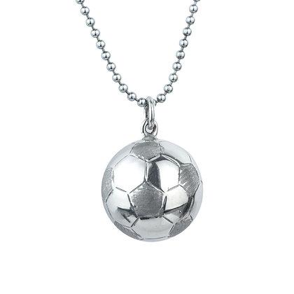 Sterling Silver Soccer Football Pendant