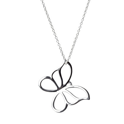 Sterling Silver Butterfly Pendant - Large