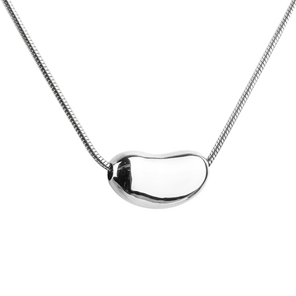 Sterling Silver Kidney Bean Pendant - Small