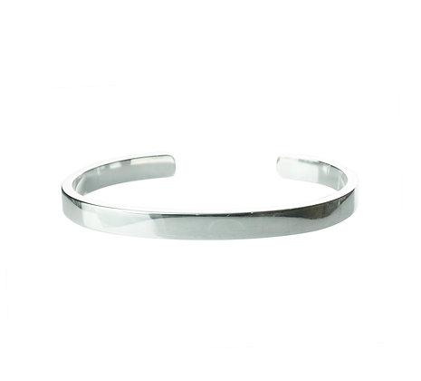 Sterling Silver Cuff Bangle - Unisex 6 mm