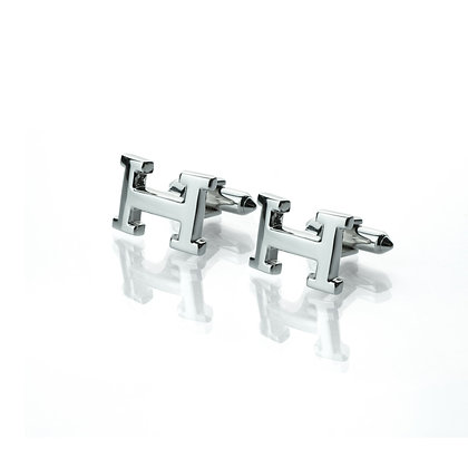 Sterling Silver H Cufflinks