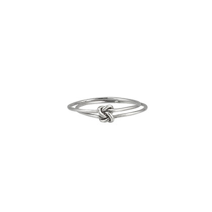 Sterling Silver Love Knot Ring -Double