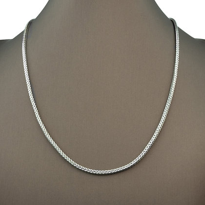 Sterling Silver Hand Woven Necklace