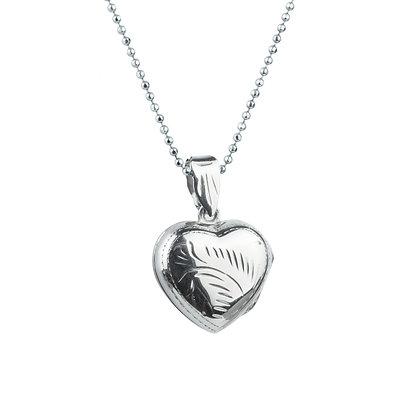 Sterling Silver Heart Locket - Small